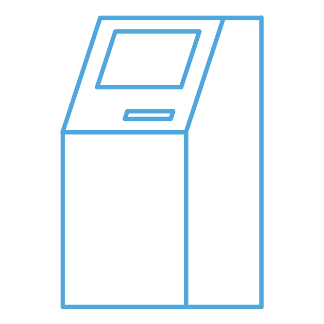 Amusement Vending - Cyan-Colored ATMs Custom Icon