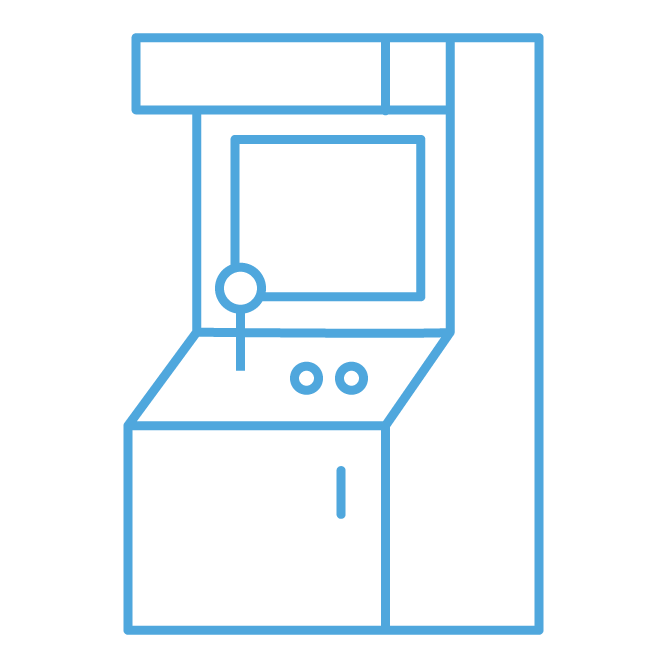 Amusement Vending - Cyan-Colored PA Skill Games Custom Icon